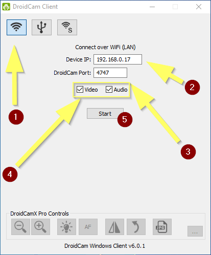 AmicoBIT Computer Montecatini - Droidcam Client