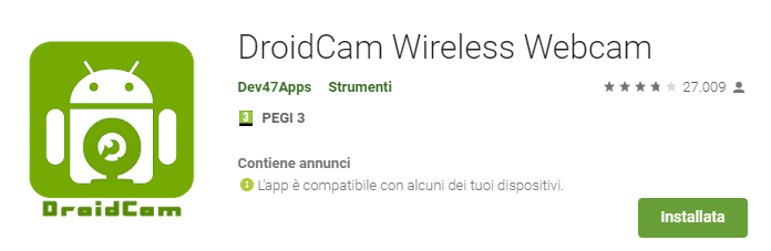 Amicobit Computer Montecatini - Smartphone per webcam